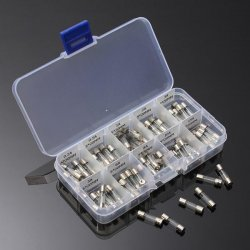 100Pcs 5x20mm Electrical Fuse Amp Fast-blow Glass Fuse Box