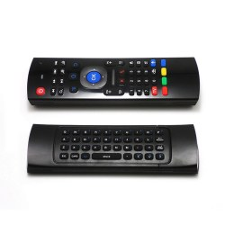 2.4GHz Wireless Keyboard 3D Air Mouse 6-Axis Inertia Sensors support the motion sensing games and Mic voice input MX3-M