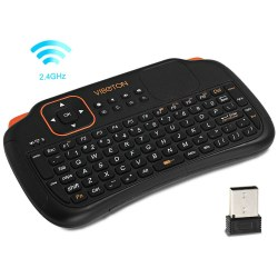 Viboton S1 All-in-One 2.4G Wireless Keyboard Air Mouse Remote Controller with Touchpad for Computer Projector TV Box Tablet