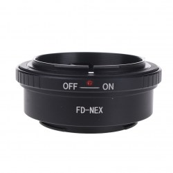 Canon FD Lens Mount SONY  (NEX3/NEX5) NEX Black Camera Adapter Ring FD-NEX