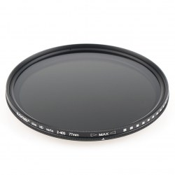 Zomei 77mm Ultra Slim ND2-ND400 Filter Reduction With Adjustable Light Stepless