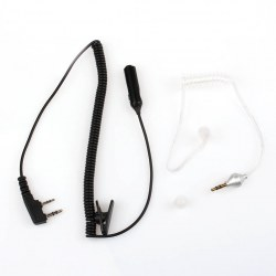 Fashion New MIC K head 100 (dB) black, white spring-talkie headset PVC