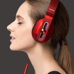 Good  Sound 1MORE  Red  Headset  Wire Headset Music Headphones  Unisex
