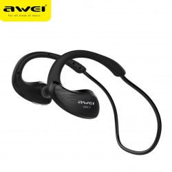 AWEI A885BL IPX4 Waterproof Wireless Sports Bluetooth Headset Stereo Headphones
