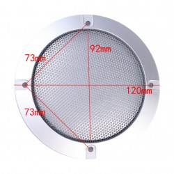 2PCS 4 Inch Silver Type Circle Speaker Decorative Circle With Protective Grille