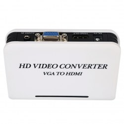 1080P Audio VGA to HDMI Video Converter Box Adapter for PC Laptop DVD with VGA