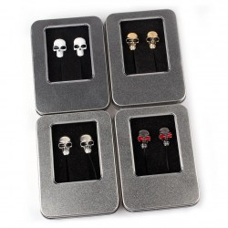 New Fashion Skull Pattern Ear in Earphone Headset Good Quality 4colors