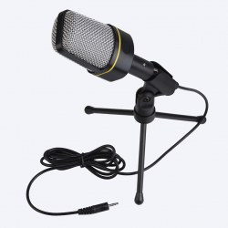 2015 New Black Plastic + Metal Capacitor Microphone Dedicated Computer Desktop