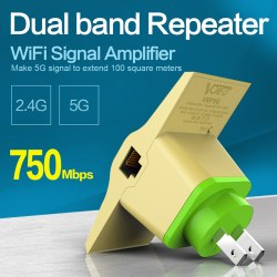2.4G / 5G Wireless Dual-band Wifi Repeater 750Mbps Receiver Repeater