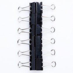 12 x Black Office Documents Papers Binder Clips Powerful Grip Useful