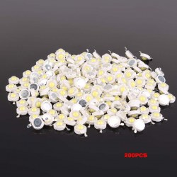 200pcs 1W High Power White / Warn White LED Beads Lamp diodes Chip