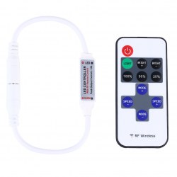 1PC Mini Controller Dimmer 11 Keys Wireless Remote 12V for LED Strip Light Speed