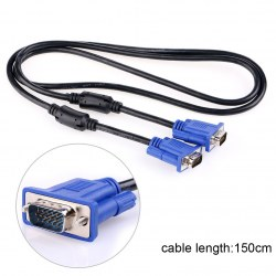 1.5m Standard VGA cable for mini projector PC and computer