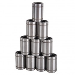 10pcs Carbon Steel LM8UU Linear Ball Bearing Bush Bushing Inscribed circle 8mm