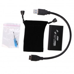 External mSATA SSD to USB 3.0 Super Speed Converter Adapter Enclosure Case Black