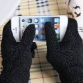 1 Pair Soft Warm Capacitive Screen Touch Gloves Mittens Smartphone Knit Gloves