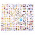 DIY Emoji Sticker Pack Cut For Phone Shell Paper Notes Notebooks