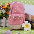 Creative Cute Dot Canvas Pen Pencil Bag Case Stationery Students Mini School Bag