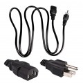 New 3-Prong AC Power Supply Cable Adapter Cord For US/EU/UK/AU Compatible with P