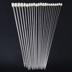 22pcs Knitting Needles Stainless Steel Single Pointed Knitting Needles 11 Sizes