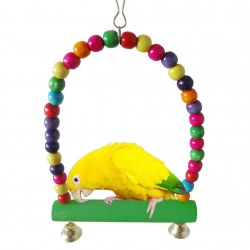 Colorful Pet Birds Toy Parrot Rope Toys Pet Birds Beads Rotating Toy For Parrot