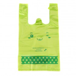 50pcs Supermarket Smiling Face Pattern Plastic Bags Bear Smiling Shopping Bag