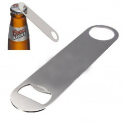 Large Flat Stainless Steel Speed Bottle Cap Opener Remover Bar Beer Tool Silver