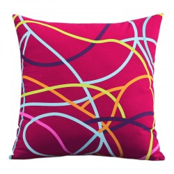 Canvas Colorful Pillow Cover Cushion Case Home Decor Sofa Supplies Household