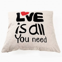 "Fashion ""Love is all"" Cotton linen Throw Pillow Cases Cushion Cover Square New"
