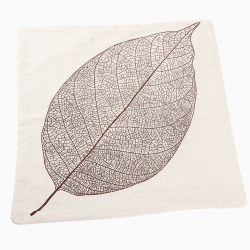 Fashion Cotton Linen Leaves Pattern Pillow Case Sofa Cushion Cover Home Decor