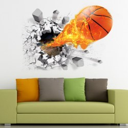3D basketball Wall Stickers Removable Stickers Bedroom home Decor