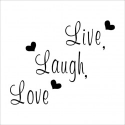 Live Laugh Love Letters WallSticker Removable Decal Art Mural Home Decor