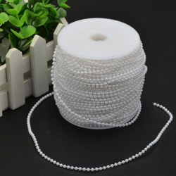 2.5mm Decoration String Beads ABS Plastic Faux Pearl Strands Crimp Bead Romantic