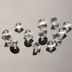 1000PCS 8mm Acrylic Gem Wedding Decoration Crystals Scatter Diamond Table