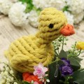 Pet Puppy Hand Woven Cotton Rope Play Clean Teeth Dog Knot Cartoon Duck New