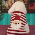 Pet Dogs & Cats Christmas Sweater Striped Dog Clothes Puppy Sweater Clothing