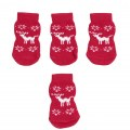 Christmas Snowflake Pet Dog Puppy Cat Non-Slip Skid Socks Boot Bootie L Size New
