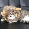 New Fancy Pet Costume Cute Lion Mane Cat Hat Wig Cosplay Lion Stuffed Plush