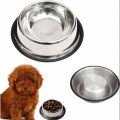 New Stainless Steel Non Skid Puppy Pet Cat Dog Slip Water B owl Dish Small