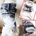 Dog Cat Pet Winter Warm Casual Soft Snow Flake Hooded Coat Clothes Puppy