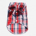 Puppy Dog Clothes Shirt Size Large Red and Blue Colors For Winter Clothing