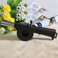 New Portable Cranked Outdoor Picnic Camping BBQ Barbecue Tool Fan Blower Black