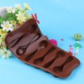 Silicone Baking Mould Spoon Design Chocolate Cake Biscuit Candy Jelly Mold Decor