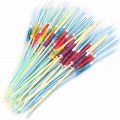 50 pcs art umbrella drinking straw