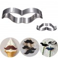Useful Stainless Moustache Bread Cake Mold Home Kitchen Accessories Slivers