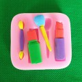 Silicone Mold Woman Makeup Cosmetic Lipstick Baking Fondant Cake Docarating Tool