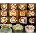 16Pcs/set Nice Coffee Barista Template Strew Pad Duster Spray Art Creative