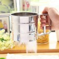 1pc Stainless Steel Cup Shape Flour Sieve Bolt manual Sugar Shaker Kitchen Tool