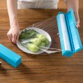Fruit Vegetable Plastic Cling Wrap Dispenser Preservative Film Cutter Kitch