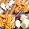 New Brand Stainless steel potato Strips Cutter plastic handle kitchen gadget
